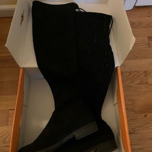 Black Unisa 6.5 Knee High Velvet Boots